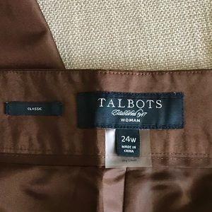 Talbots Pants - NEW Silk Dress pants PLUS SZ